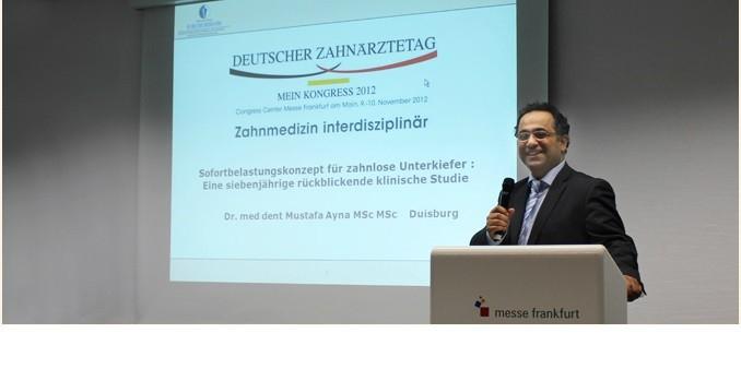 Deutscher Zahnärztetag 2012 Referent Dr. Mustafa Ayna Sofortimplantate