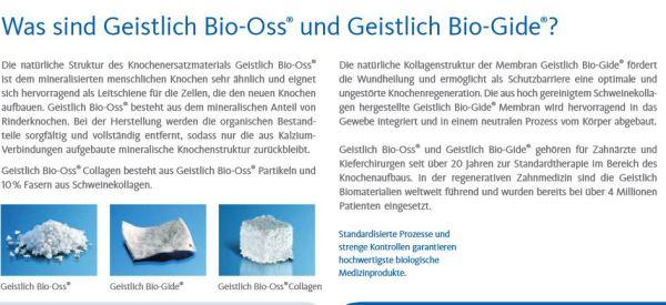 Geistlich Bio-Oss und Geistlich Bio-Gide im Vergleich