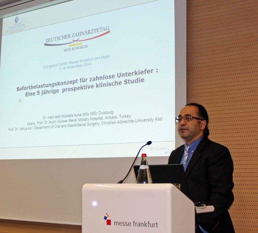 Deutscher Zahnärztetag 2014 Referent Dr. Mustafa Ayna