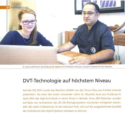 DVT Giano Implantatplanung Dr. Ayna Duisburg