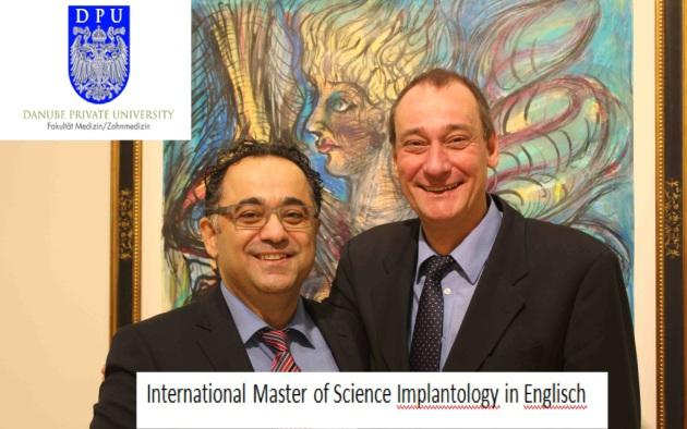 Referent beim internationalen Masterkurs für Implantologie 2016 Danube Private University Krems
