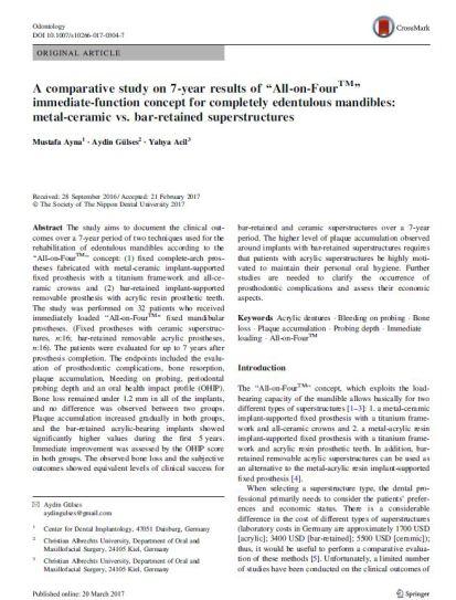 Veröffentlichung von Dr. Arya April 2017
