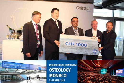 Preisauszeichung Osteology in Monaco von Praxis Dr. Ayna