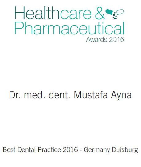 Best Dental Practice 2016 Duisburg Germany